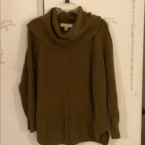 Olive green cowl neck tunic sweater SZ XL